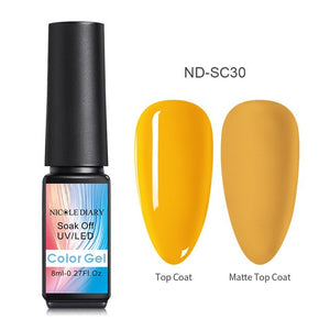NICOLE DIARY Holo Red Glitter UV Gel Nail Polish Super Shining Purple UV Nail Gel Varnish varnish
