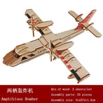 3D Wooden Ship Jigsaw Toys Learning Building Robot Model DIY Sailing Boat Plane Puzzle Aircraft Gift Kids Car Toy For Children