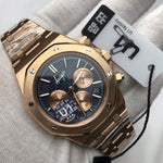 U1 Fashion Rose Gold Blue dial Luxury Men quartz chronograph royal Watches Drive Crystal Sapphire Sport AAA Watch