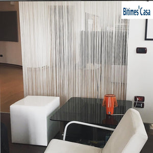 Decorative W150L300CM Solid Color String Curtain Line Curtains шторы Room Divider Home Decoration