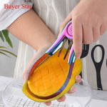 New Stylish Stainless steel Mango Splitter Cutter Fruit seed remover Gadget Peach Slicer Kitchen Gadget Metal food serving tools