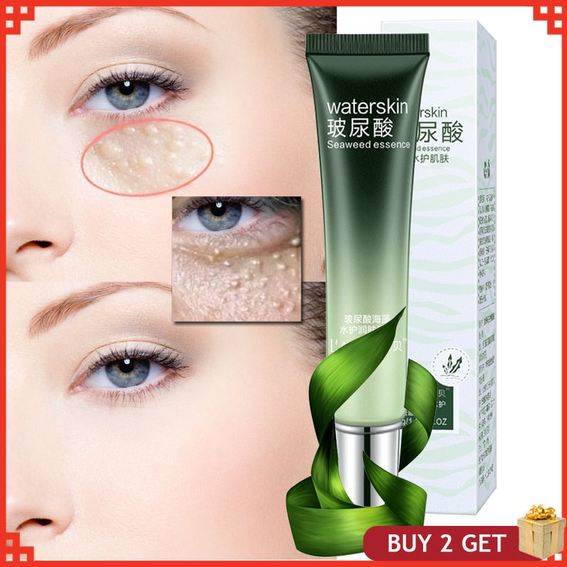Hyaluronic Acid Seaweed Fine Condensate Eye Cream Delicate Bright Smooth Herbal Reduce Fat granules Extract Anti-Puffiness Serum