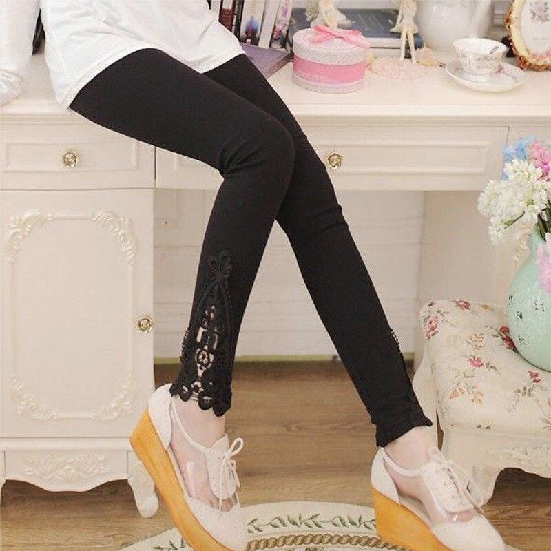 2020 New Lace Splicing Waist Leggings Women Print Workout Clothes Push Up Fitness Female Sexy Skinny Elastic Slim Pants Leggings