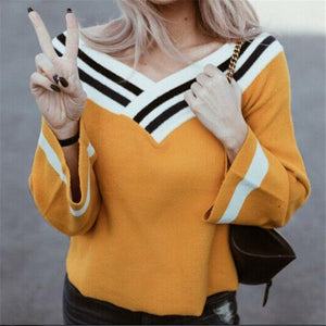 Fashion Womens Long Sleeve Pullover Casual Blouse Ladies Blouse Shirts Loose Lady Jumper Yellow Shirt Top New Hot Sale 2019
