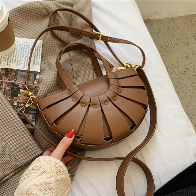 Luxury Brand Ladies Tote bag 2021 Fashion New High-quality PU Leather Women's Designer Handbag Vintage Shoulder Messenger Bag