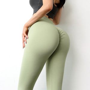 Booty Solid Seamless Gym Legging Women High Waist Yoga Pants Fitness Energy Push up Leggings Workout Tights Running Activewear
