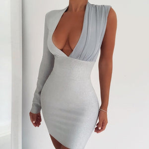Deer lady Sexy Bandage Dress High Quality Bandage Dress Winter 2020 New Arrivals Women Cut Out Dress Celebrity Club Part Dress