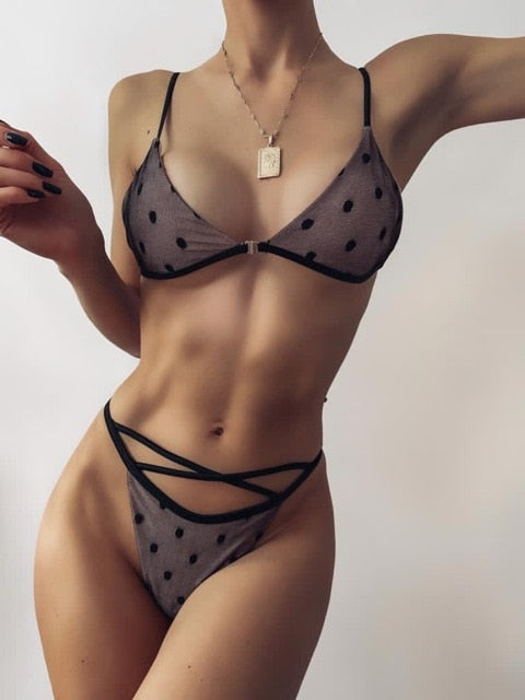 New Sexy Diamonds Black Two Pieces Set Swimsuit Fashion Halter Crop Top Lace Up Bikini Bathing Suits Beach Wear Swimming Suit