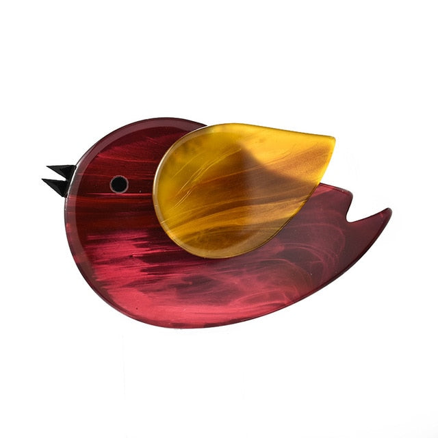 CINDY XIANG Acrylic Bird Brooches For Women Animal Pin Brooch 4 Colors Available High Quality Resin Jewelry Good Gift