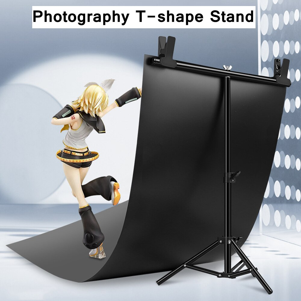 Photo Studio T-shape Backdrop Background Stand With Clamp Professional Photography Frame Support System Kit Metal Frame Bracket