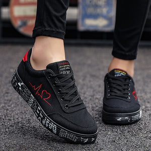 TYDZSMT 2021 Fashion Women Vulcanized Shoes Sneakers Ladies Lace-up Casual Shoes Breathable Canvas Lover Shoes Graffiti Flat
