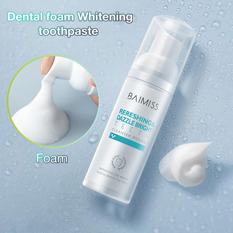 Fresh Shining Tooth-Cleaning Mousse Toothpaste Teeth Whitening Oral Hygiene Removes Plaque Stains Bad Breath Dental Tool