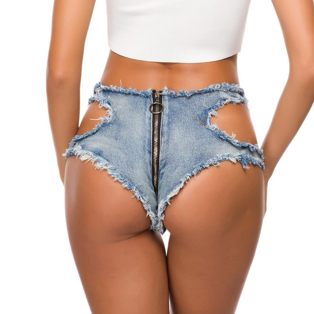 Plus Size Shorts Women Jeans Denim Ripped Hollow out Low Waist Hole Sexy Mini Shorts Booty Summer Jeans Club short mujer