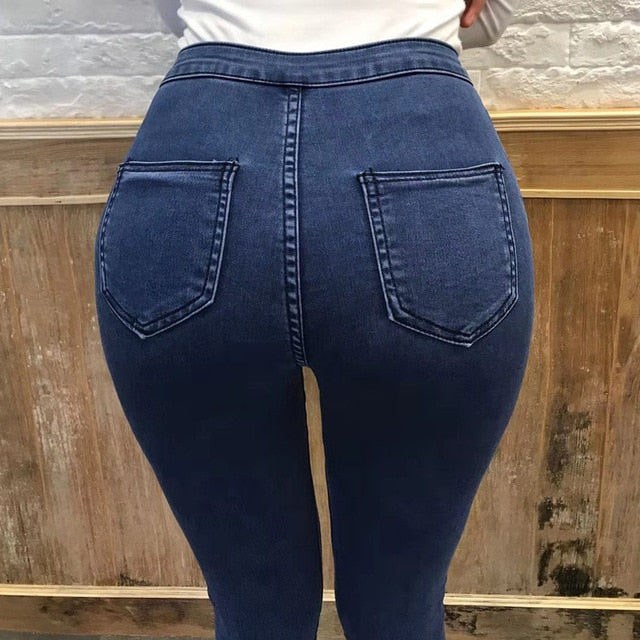 2020 Autumn NEW Sexy Woman Jeans Comfortable Blue elastic tight high waisted jeans package hip little foot fashion Pencil Pants