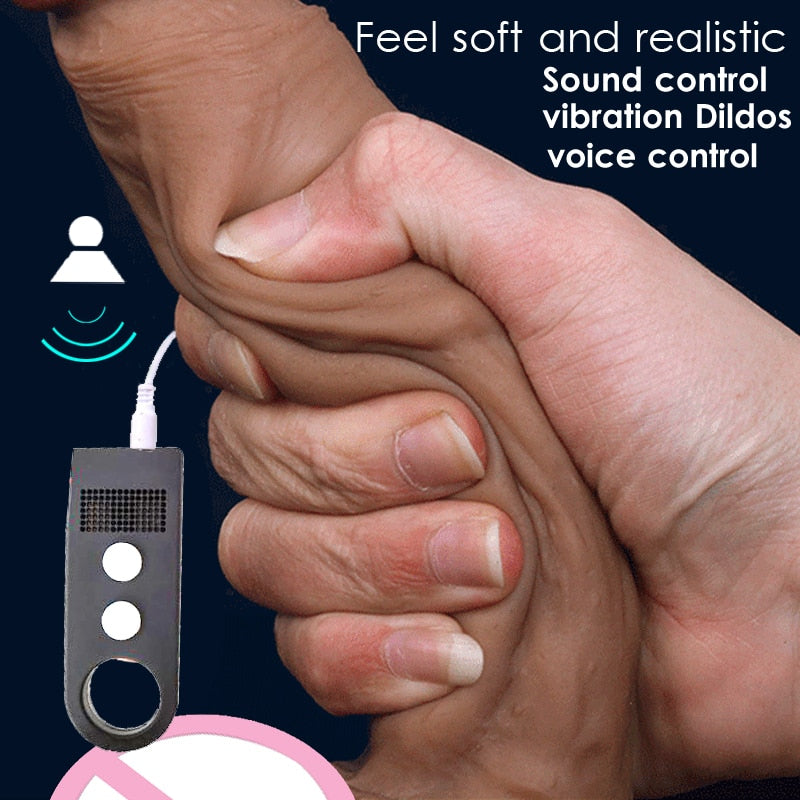 Sound Control swing vibrating dildo,suction cup dildo realistic penis artificial dick sex toys for woman vibrator real dildos