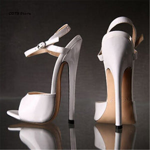 CDTS Crossdresser sexy Ankle Strap Sandals Plus:36-45 46 Summer high-heeled 16/18cm ultra thin heels shoes woman club pumps