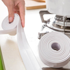 Self Adhesive Kitchen Ceramic Sticker Waterproof Anti-moisture PVC Sticker Bathroom Wall Corner Line Sink Stickers 3.8*320cm