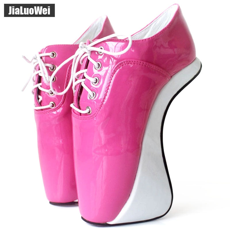 Women 2018 Ultra High Heels Fashion Sexy Pumps Elastic band Ankle Boots Short Plush Shiny Pointed Toe Hoof Heelless Ballet Shoes