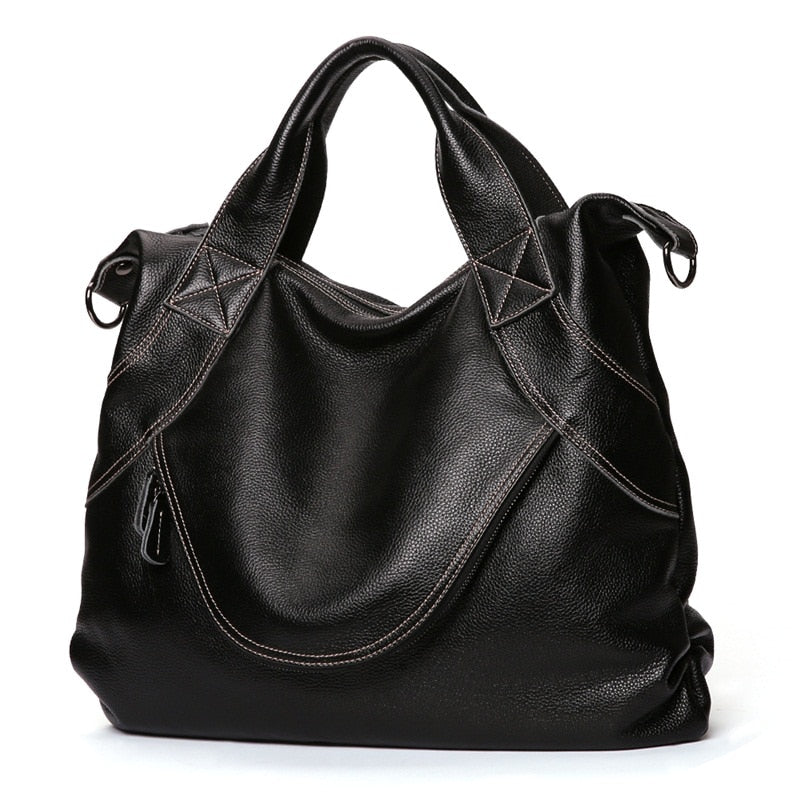 New Casual 100% Genuine Leather Women Handbag Shoulder Bags Luxury Fashion Ladies Tote Large Capacity Female Crossbody Bag