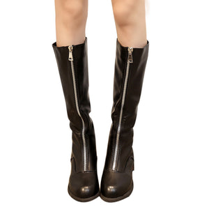 Women Over The Knee Boots Zipper Sexy Flat Boots Women Shoes Boots Party Shoes