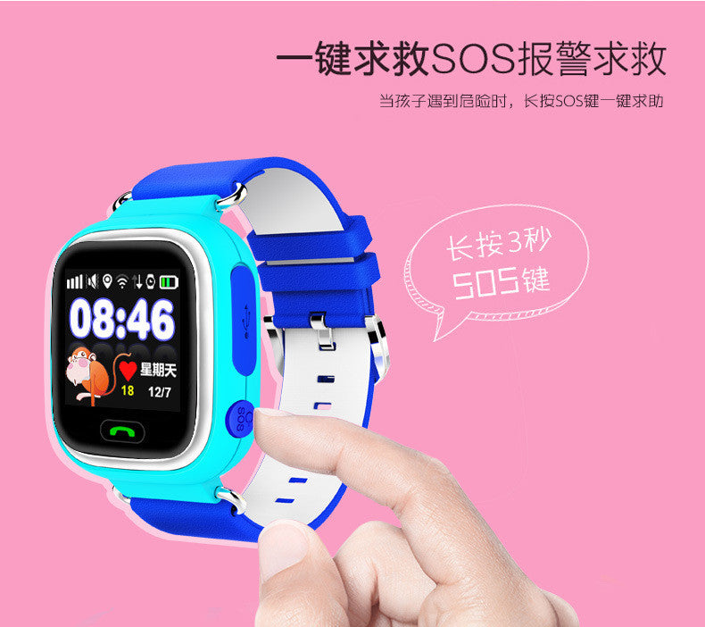 Q90 GPS Bluetooth Smart Watch for Kids Boy Girl Safe Anti-Lost Monitor Christmas Gift Russian Language Type