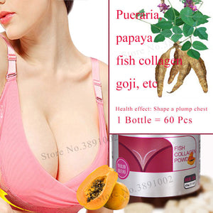 Pueraria Extract,Mirifica Papaya Breast Enlargement Capsules,Breast Augmentation Pills,Massage Oil,Bigger Breast Bust Care Cream