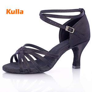 Women Salsa Dance Shoes Ballroom Tango Latin Dance Shoes 5cm 7cm Heel Woman Salsa Dancing Shoes High-Heeled Adult Soft Outsole