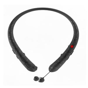 Wireless Bluetooth Headset Retractable Earbuds Neckband Sport Stereo Headphones for LG Samsung iPhone Apple with Retail Box