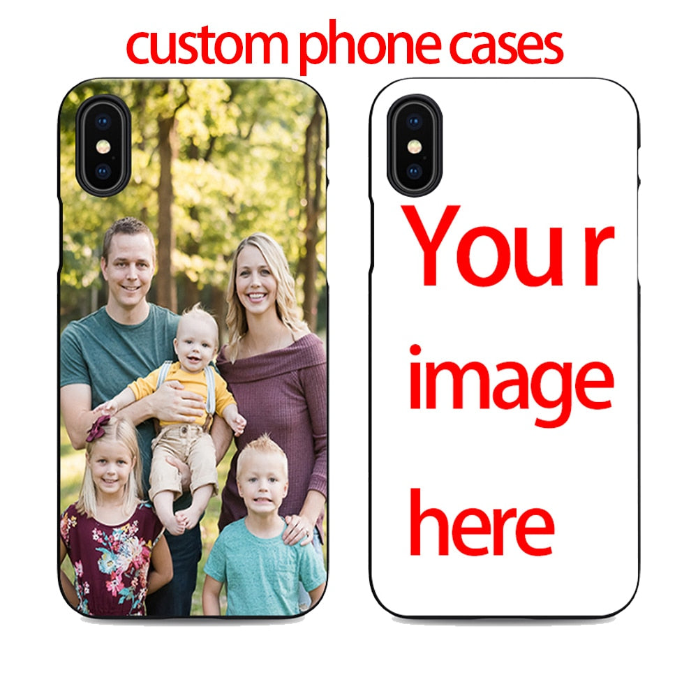 Diy Custom Cell Phone Case Design Your Own For Iphone X Xr 6 7 8 Plus 5 5s 6s Se Create Phone Case With Photos Best Black Cover