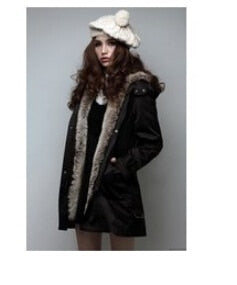 Faux Fur Lining Women 'S Fur Hoodies Ladies Coats Sping Winter Warm Long Coat Jacket Cotton Clothes Thermal Parkas
