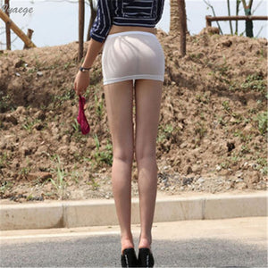 Women Lady Transparent Mini Skirt Nightclub Mesh Miniskirts Micro Short Hot Sexy Tight See Through Perspective Bodycon Skirts
