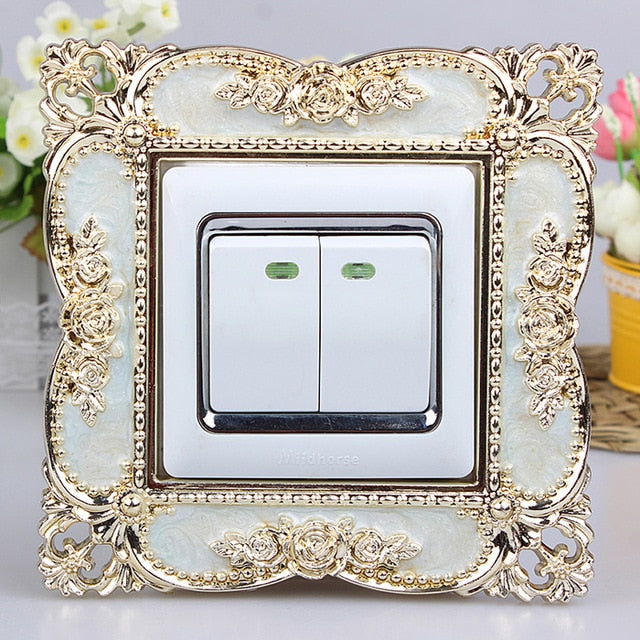 86 European Switch paste  Smart cover Acrylic  living room Socket sleeve Switch panel Decorating sleeve dustproof