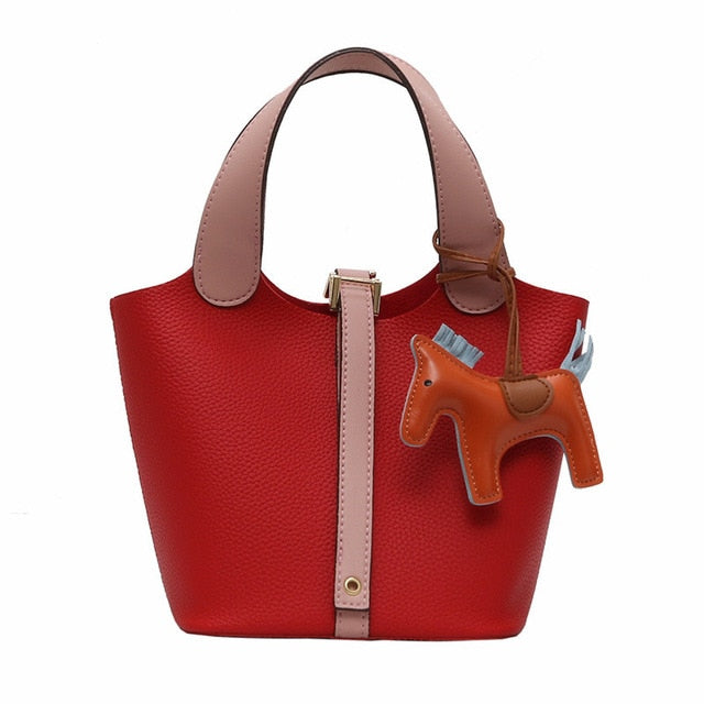 2019 new womens brand Handbag Women Large Tote Bag Female Bucket Shoulder Bags Lady Leather Messenger Bag cute red Shopping Bag