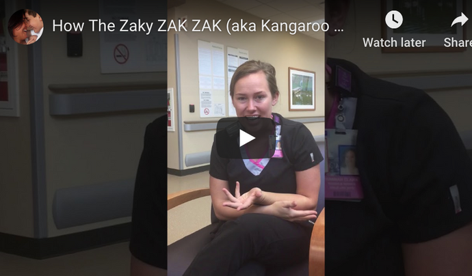[VIDEO] The Zaky ZAK (aka Kangaroo ZAK) for early discharge of a NICU baby at Parkland, Dallas