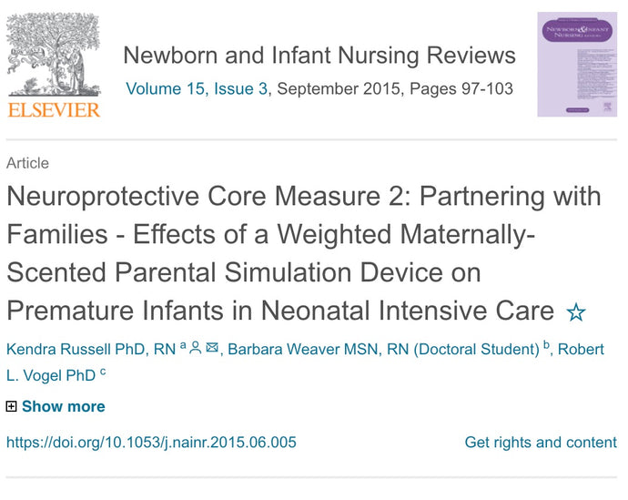 Publication: RCT: Neuroprotective Core Measure 2: Partnering with Families - Effects of a Weighted Maternally-Scented Parental Simulation Device [The Zaky HUG] on Premature Infants in Neonatal Intensive Care