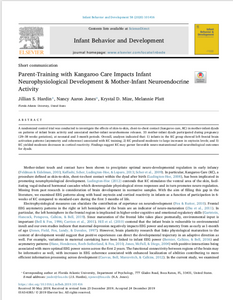 Publication: Parent-Training with Kangaroo Care [using The Zaky ZAK] Impacts Infant Neurophysiological Development & Mother-Infant Neuroendocrine Activity