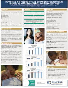 "POSTER: ""Improving The Frequency And Duration Of Skin To Skin Holding To Promote Parental Confidence In NICU"" with The Zaky ZAK"