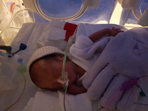 Lorenzo in Florence NICU with The Zaky HUG