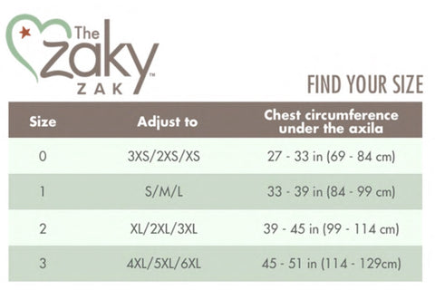 The Zaky ZAK Sizing