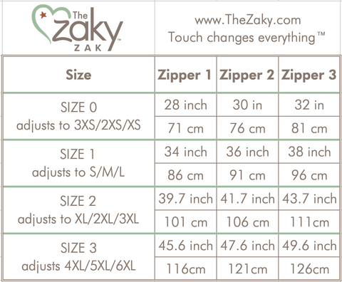 The Zaky ZAK - Sizing