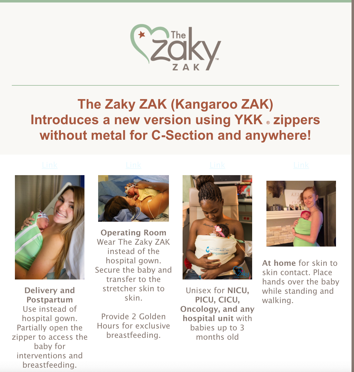 The Zaky ZAK new zipper announcement