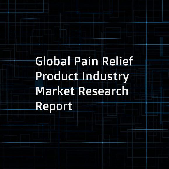 Global Pain Relief Product Industry Market Research Report