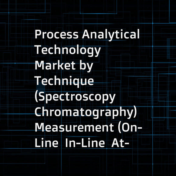 Process Analytical Technology Market by Technique (Spectroscopy  Chromatography)  Measurement (On-Line  In-Line  At-Line)  Products and Services (Analyzers  Probes & Sensors)  End - User (Pharmaceutical Manufacturers  CRO & CMO) - Global Forecast to 2021
