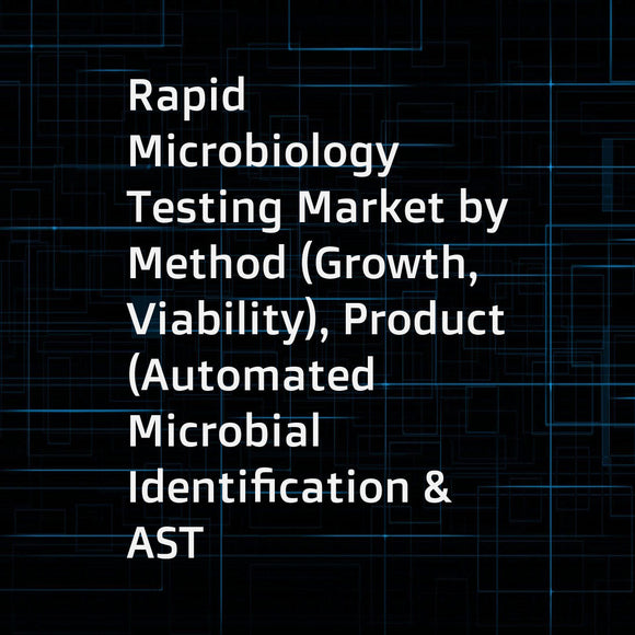 Rapid Microbiology Testing Market by Method (Growth, Viability), Product (Automated Microbial Identification & AST System, PCR, Reagent), Application (Clinical Diagnosis, Environmental), End User (Labs, Hospitals, Industry) - Global Forecast to 2023