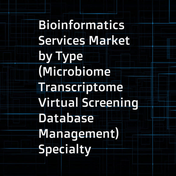 Bioinformatics Services Market by Type (Microbiome  Transcriptome  Virtual Screening  Database Management)  Specialty (Medical  Forensics)  Application (Proteomics  Metabolomics)  End User (Academia  Pharma) - Global Forecast to 2023