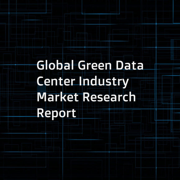 Global Green Data Center Industry Market Research Report