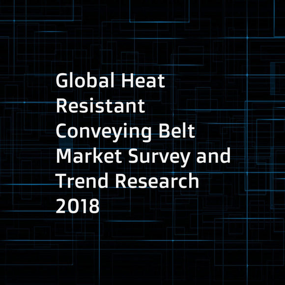 Global Heat Resistant Conveying Belt Market Survey and Trend Research 2018