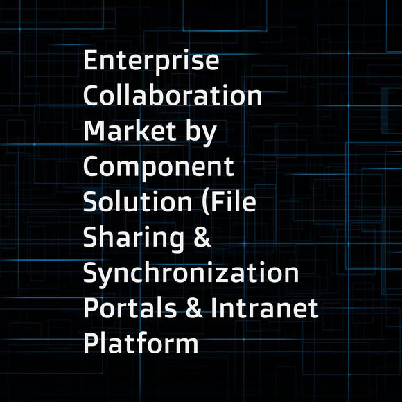 Enterprise Collaboration Market by Component  Solution (File Sharing & Synchronization  Portals & Intranet Platform  Unified Messaging  Enterprise Video  Enterprise Social Network)  Service  User Type  Vertical  and Region - Global Forecast to 2021