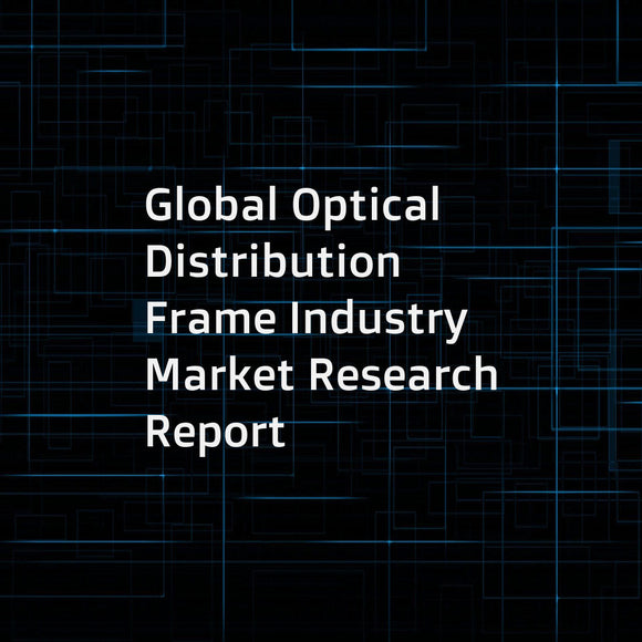 Global Optical Distribution Frame Industry Market Research Report