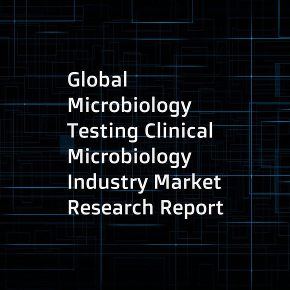 Global Microbiology Testing Clinical Microbiology Industry Market Research Report